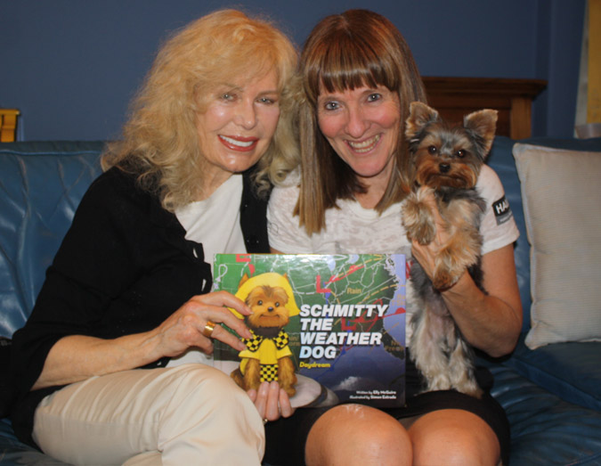Loretta Swit with Elly McGuire and Schmitty's New Book!